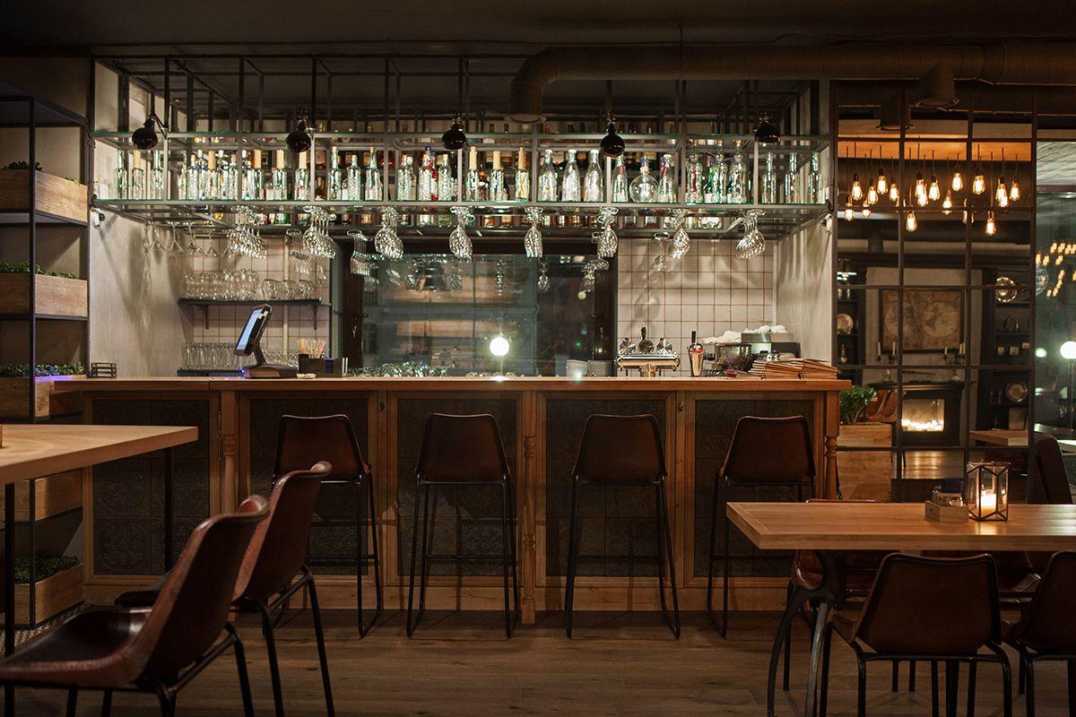Imagen de la barra de bar en restaurante barco barras for Disenos de barras para bar