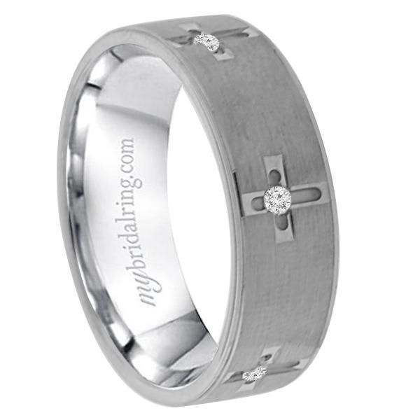 Mens Wedding Band Set In White Gold Greater Confidence And Sexiness Equal This Stunning With Dazzling Round Cut Diamonds