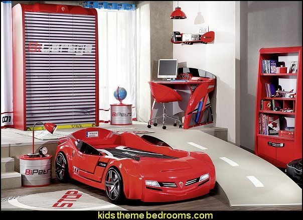 Need for Sleep Garage bedroom furniture car bed garage door wardrobe Barrel  Nightstand car themed bedroom. Need for Sleep Garage bedroom furniture car bed garage door