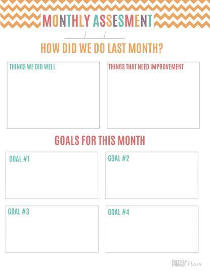 printable budget binder monthly assessment sheet