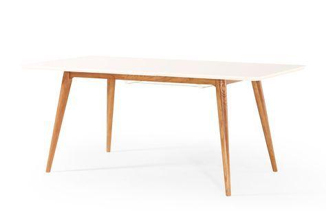 Table à Manger Extensible Scandinave Dewarens Wyna Cuisine - Table carree extensible pas cher pour idees de deco de cuisine