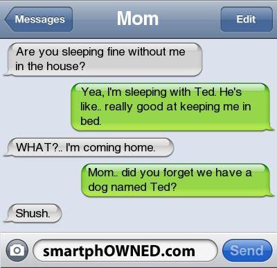 Misunderstanding text messages