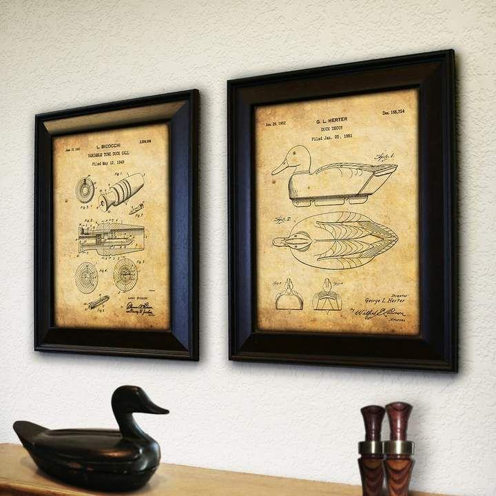 Duck Hunter\'\' 2-piece Wall Art Set, Brown