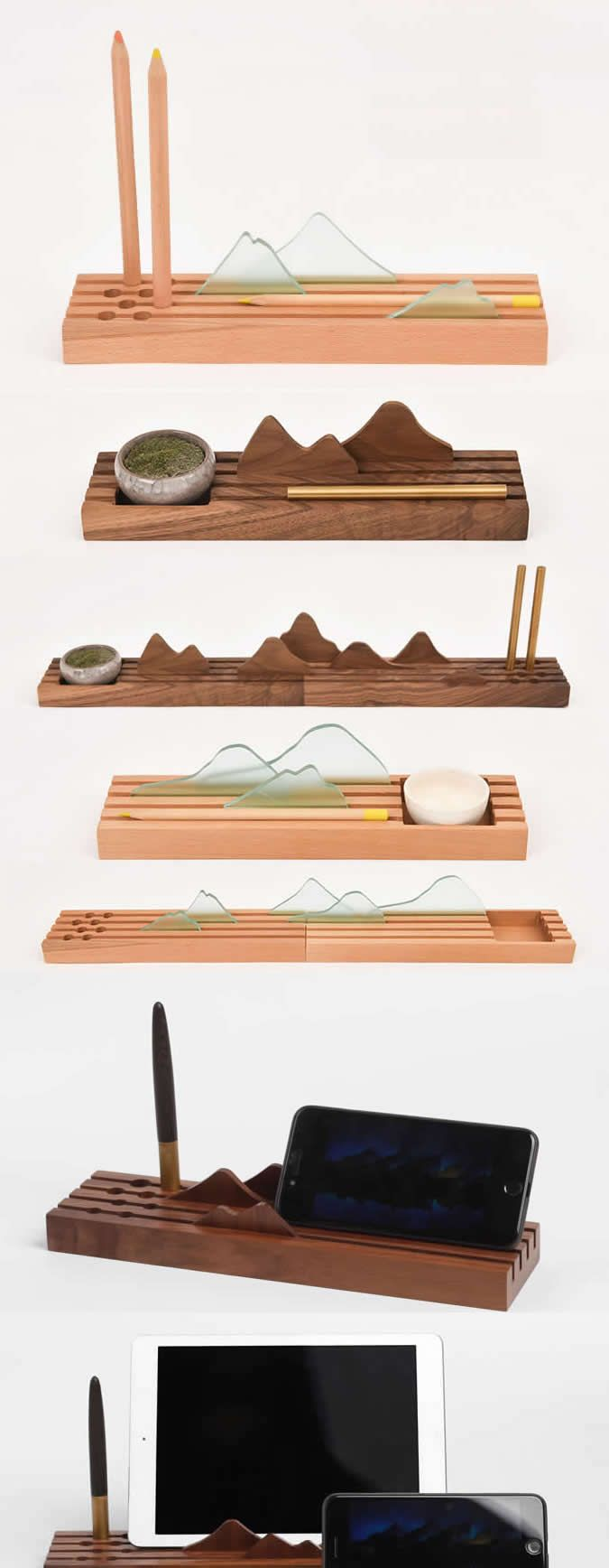 Bamboo wooden pen pencil holder stand iphone ipad smart phone bamboo wooden pen pencil holder stand iphone ipad smart phone holder dock business card display stand magicingreecefo Gallery