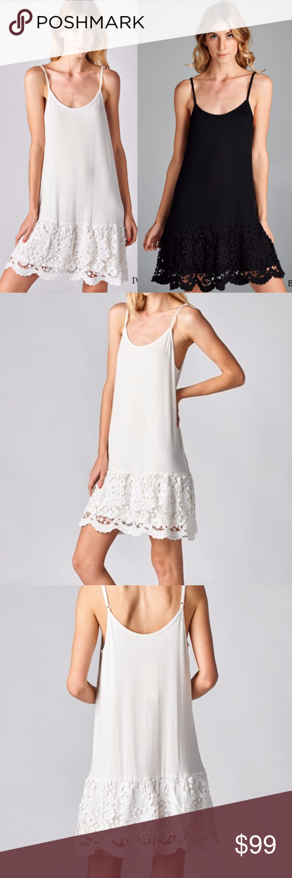 Scalloped lace dress extenders