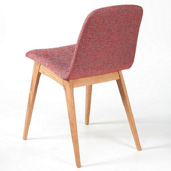Silla tapizada Momo con patas en madera de roble o haya para comedor ...