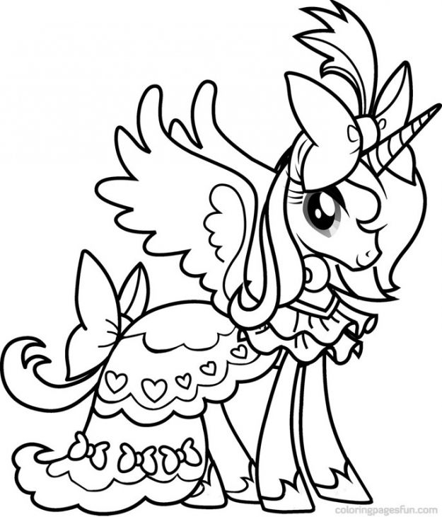 Coloring Pages Princess Pony : Princess cadence from my little pony coloring pages