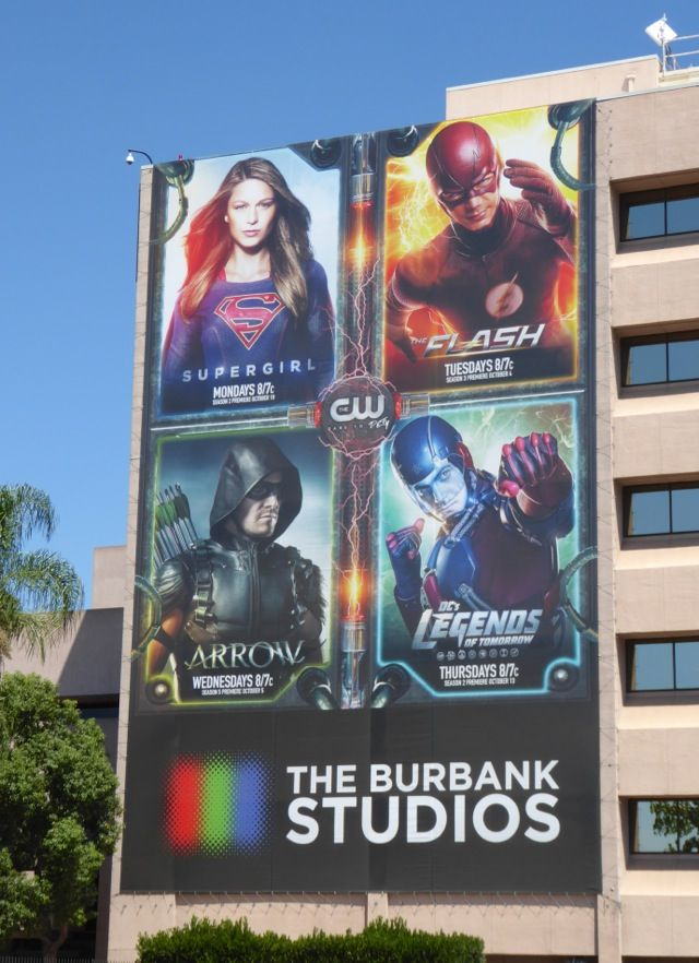 DC Comics TV series billboard