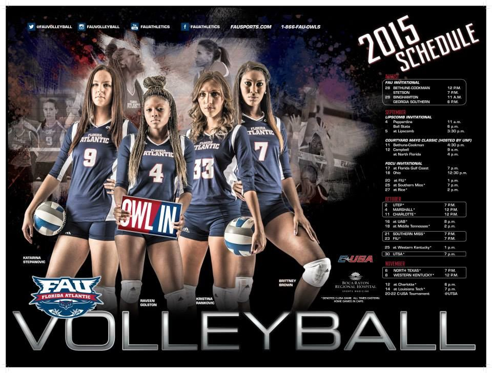 Posterswag Com Top 30 Ncaa Volleyball Schedule Posters Smsports Sportsbiz Volleyball Posters Volleyball Team Pictures
