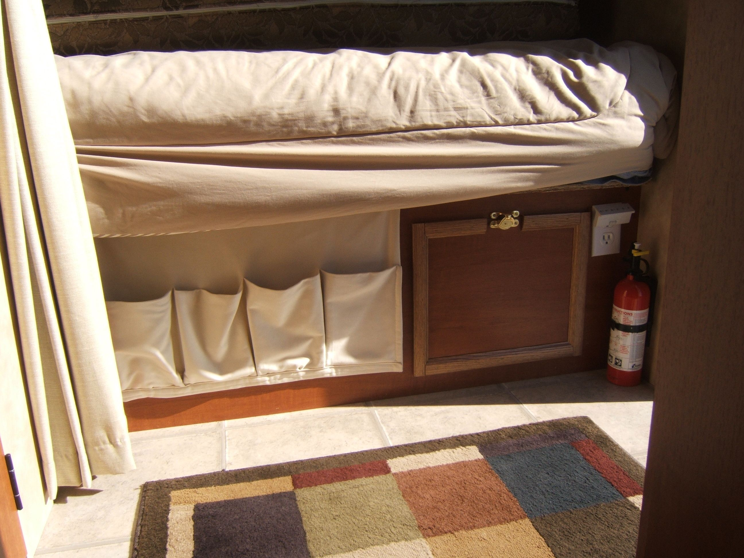 Pin By April Ellis On For The Rv Rv Storage Solutions Rv Campers Camper Storage