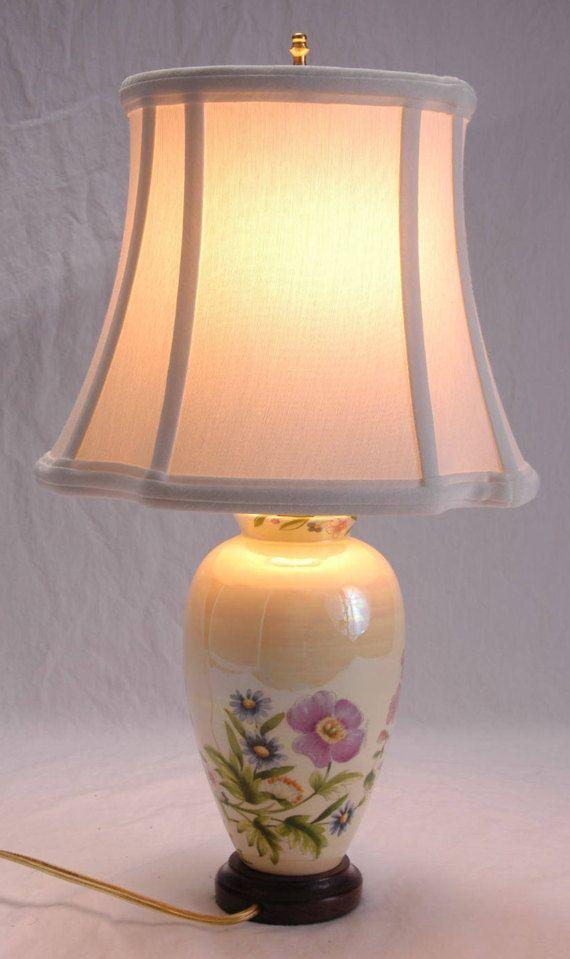 Vintage Oriental Table Lamp Erware Style Lighting By Serepete