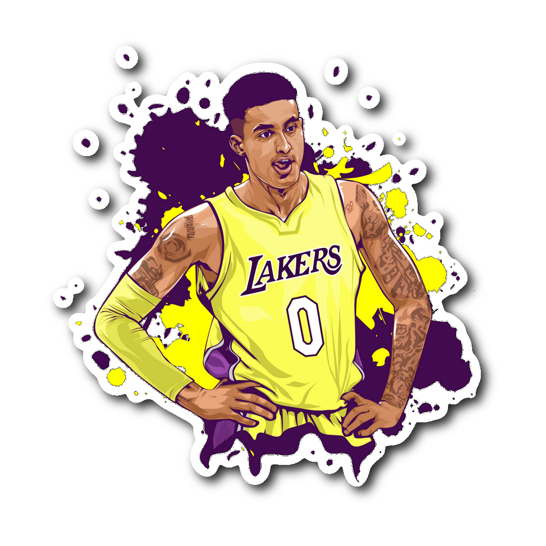 Kyle Kuzma Vinyl Sticker Kyle Kuzma Bart Simpson Art Nba Basketball Art