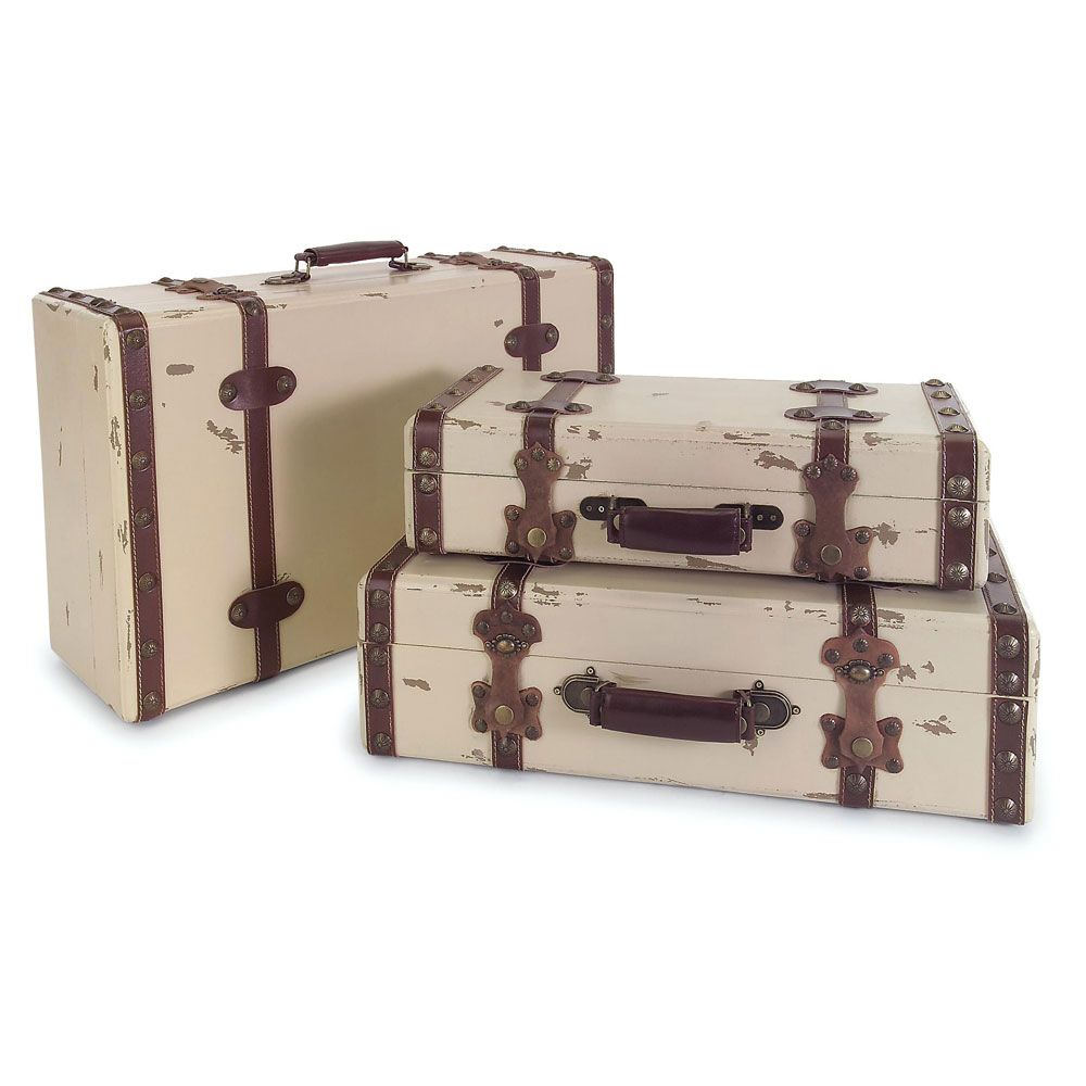 Use this set of three suitcases to decorate your home with an air ...