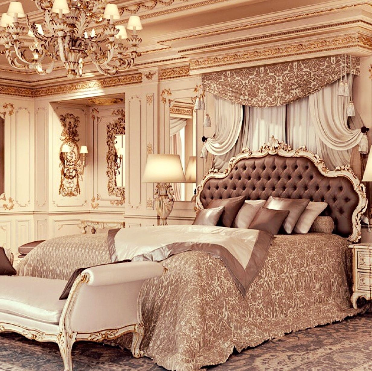 Luxury Bedroom Furniture Stores: Luxury Master Bedroom Www.MadamPaloozaEmporium.com Www