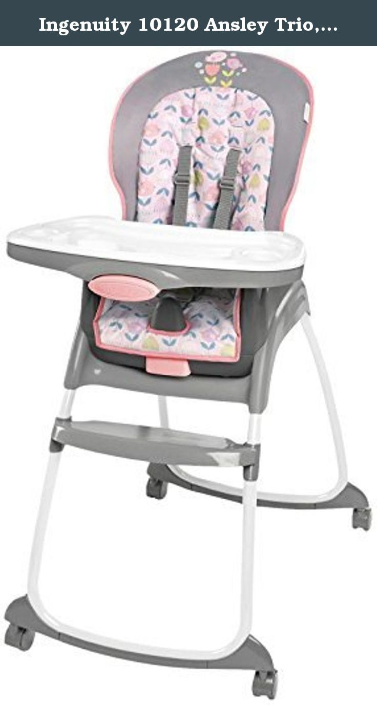 ingenuity high chair 3 in 1 cover white living room 10120 ansley trio pink the