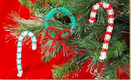 Tri Bead Christmas Ornaments Christmas Ornament Crafts Beaded