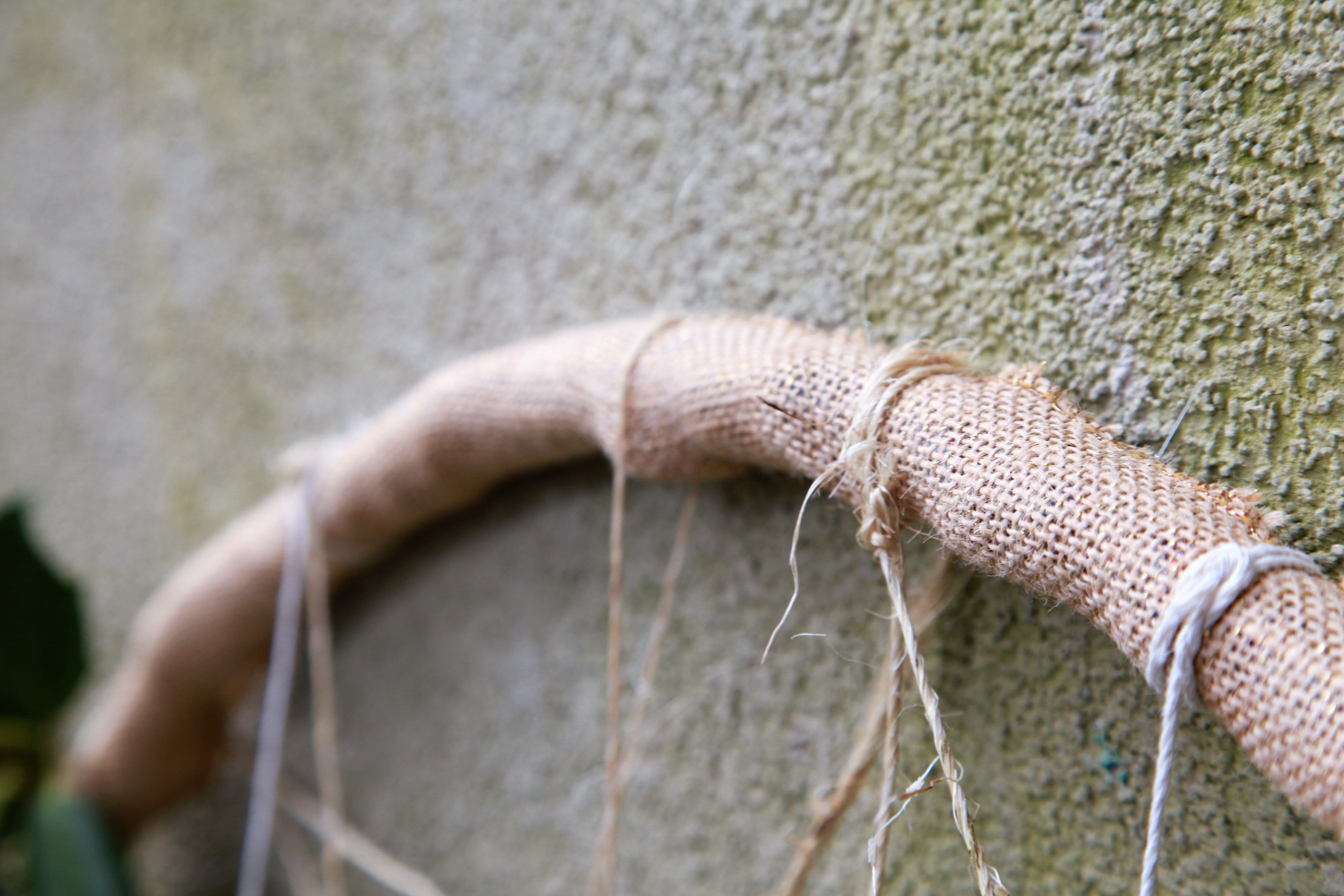 The Tied Edge Of The Hula Hoop Wreath From Our Peaceful Valley Furniture  Blog #diy