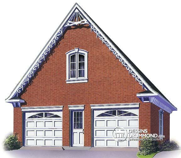 Car Garage Loft Retro Style: Plan De Garage W2980 #Victorien #Castle #Manoir #Garage