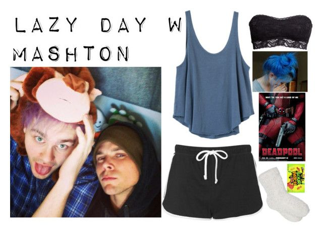 """""""Lazy day with Mashton"""" by jess2402 ❤ liked on Polyvore featuring Topshop, RVCA, M&Co and H&M"""