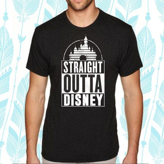 198c3d93b Straight Outta Disney Inspired Shirt / Mens Disney Shirt / Disneyland Trip  / Mickey Mouse Shirts [E0