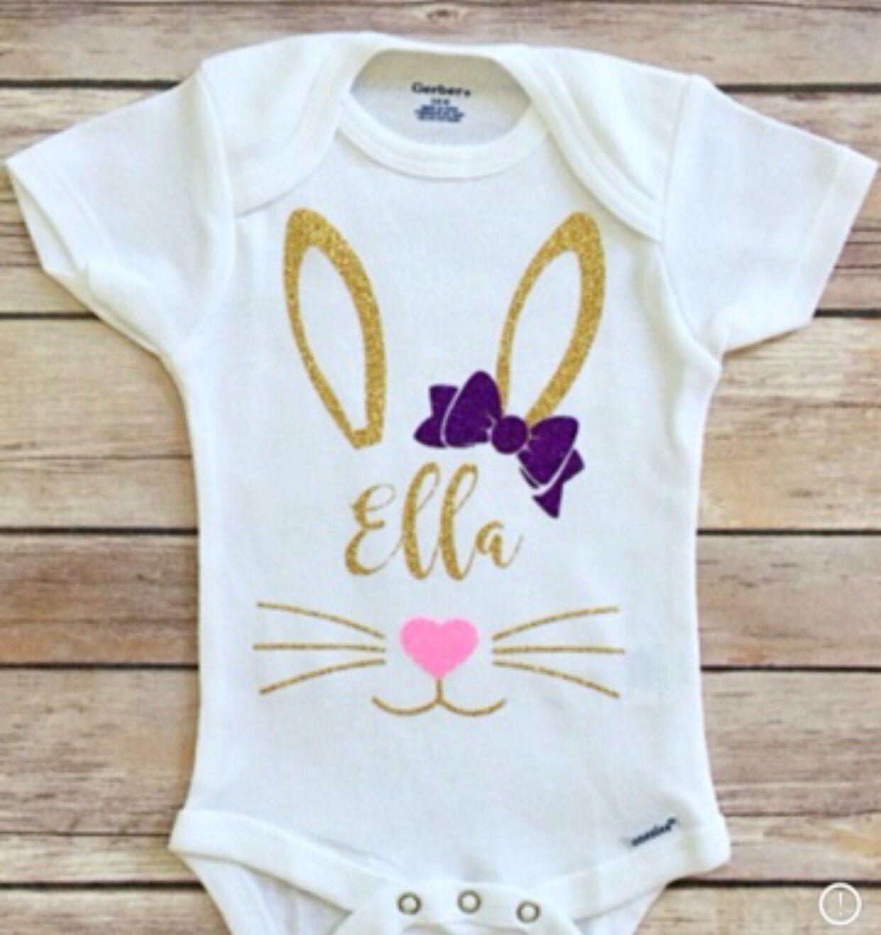 toddleryouth shirt Easter bunny infant bodysuit