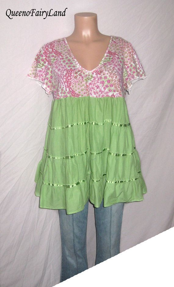 8165a0bce5f0 Upcycled Baby Doll Tunic