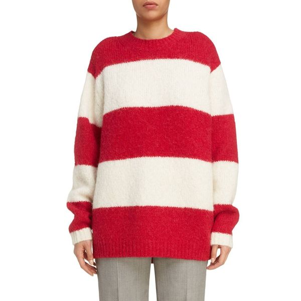 10eacf68e66 --evaChic--This Acne Studios Albah Oversized Striped Sweater is a roomy  knitwear