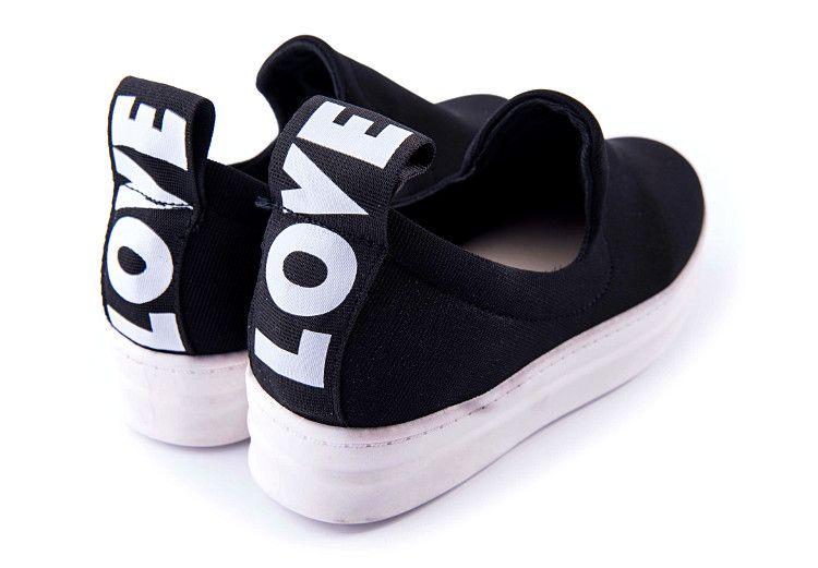Slip On Trampki Platforma Creepersy Love Czarne 6058101189 Oficjalne Archiwum Allegro Baby Shoes Shoes Fashion