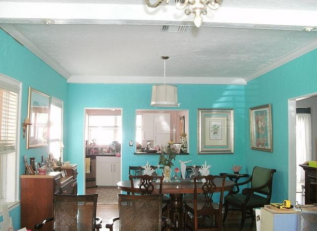 Perfect Tiffany Blue Dining Room Under Construction | Sharonna Misha Designs  #sharonnamisha