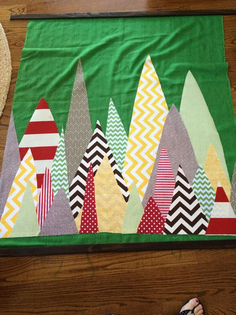 fabric tree tapestry via bowerpowerblog. trade the trees for houses.
