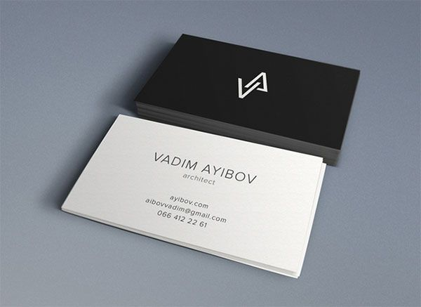 vadim ayibov by sergey nefortunov the best business cards of the month great creative designs - Amazing Business Cards