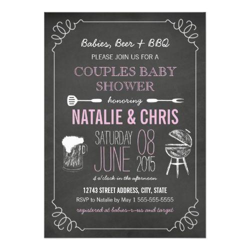 Chalkboard Baby Shower Invitations | Zazzle