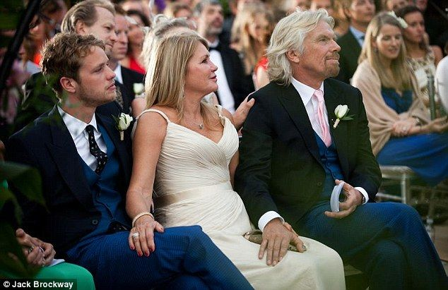 Exclusive Sir Richard Branson Opens Up The Family Album As He Shares Some Photos Of Daughter Holly S Caribbean Wedding Caribbean Wedding Richard Branson Richard Branson Wife