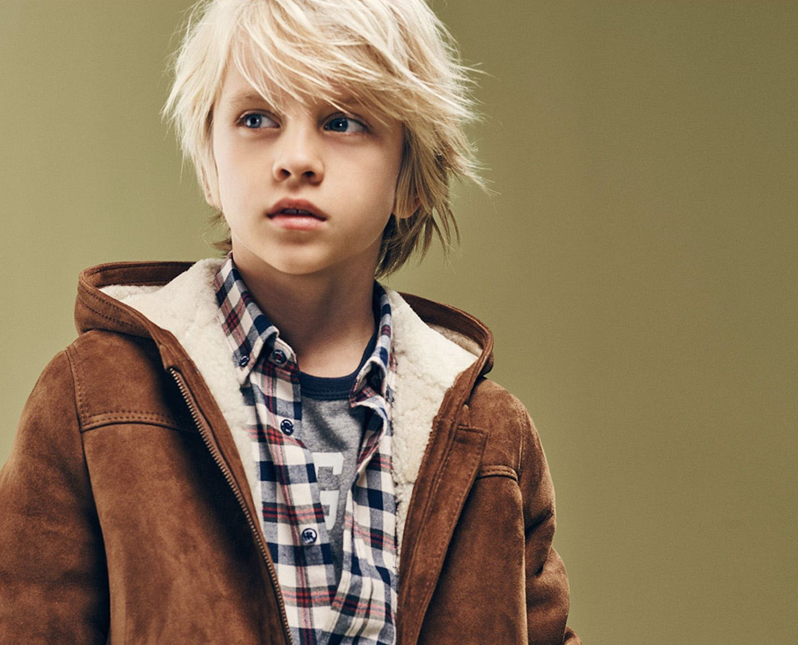 Beautifully simple shearling jacket for boyswear fall/winter 2015 ...