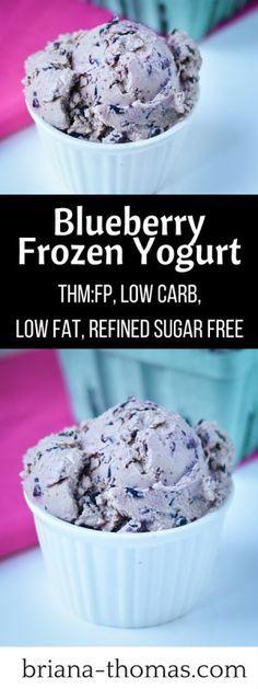 blueberry frozen yogurt  recipe  frozen yogurt
