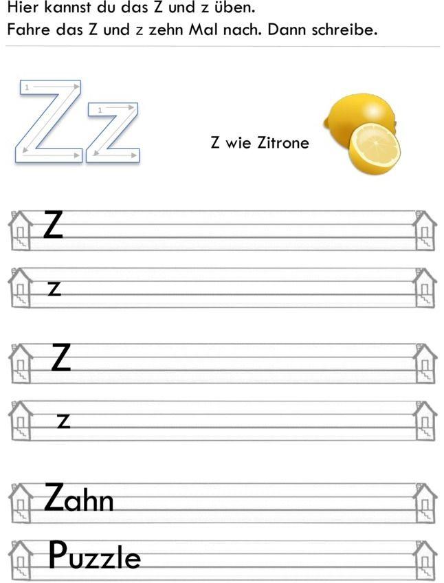 Übungsblatt zu Buchstaben (mit Bildern) Buchstaben