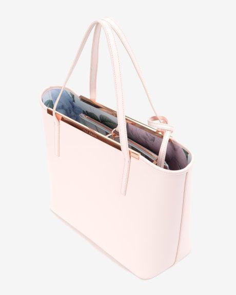 Crosshatch leather shopper - Nude Pink | Bags handbag #handbag #fashion