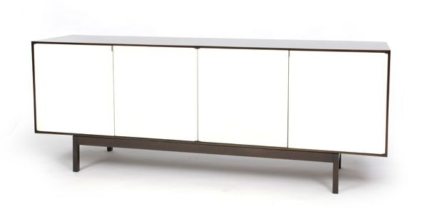 rare florence knoll credenza red modern furniture - Modern Credenza