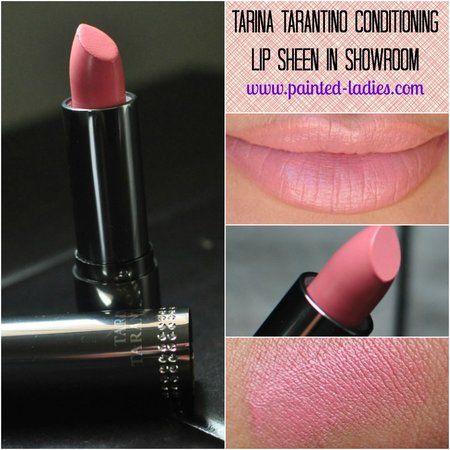 Tarina Tarantino Conditioning Lip Sheen in Showroom - #tarinataratino #lipsheen #lipstick #lipcolor #pinklips #lips #paintedladies - bellashoot.com