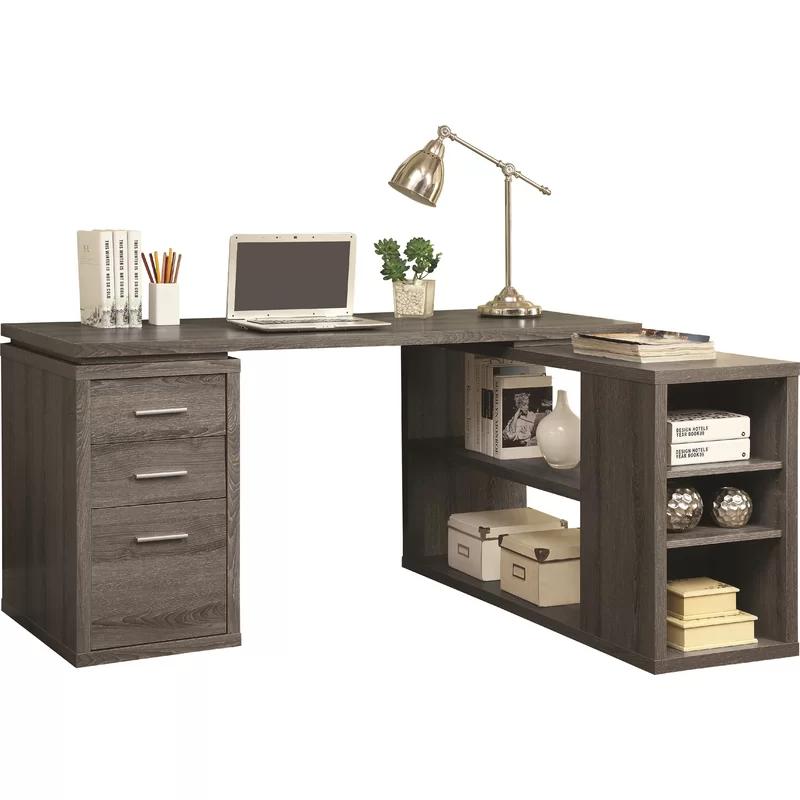 Senga Reversible L Shape Executive Desk With Images L Shaped