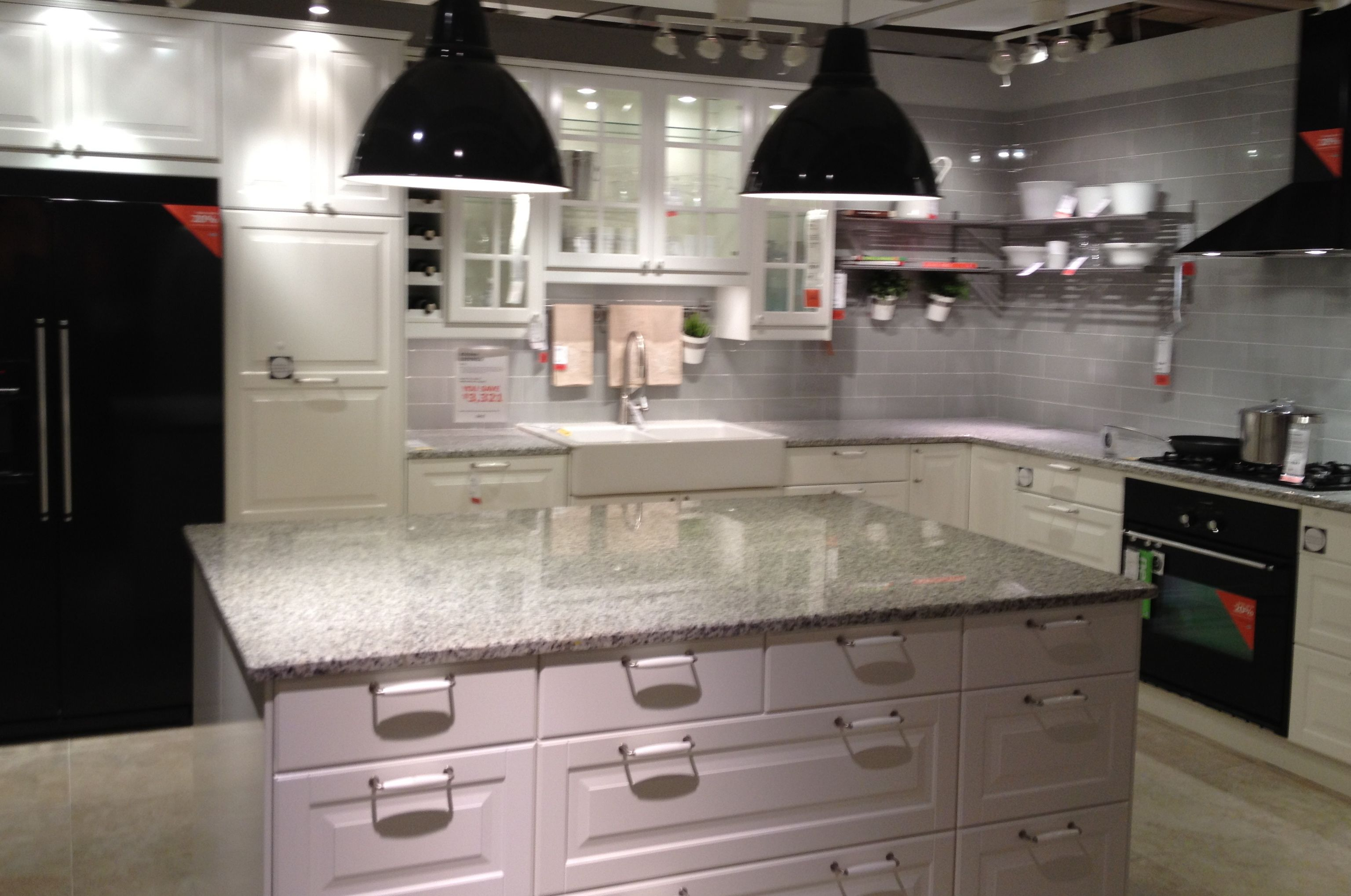 Picked Out The Granite Today It Is Luna Pearl And Will Look A Lot Like This With The White