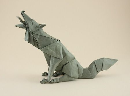 Origami Wolf PLEASE IF ANYBODY SEES THIS CAN YOU HELP ME FIND THE INSTRUCTIONS Honestly I Would Greatly Appreciate It