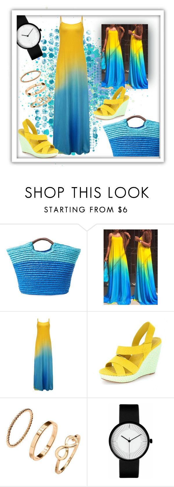 """""""Maxi dress for end of the summer"""" by iva-hrgic98 ❤ liked on Polyvore featuring Alex + Alex and H&M"""
