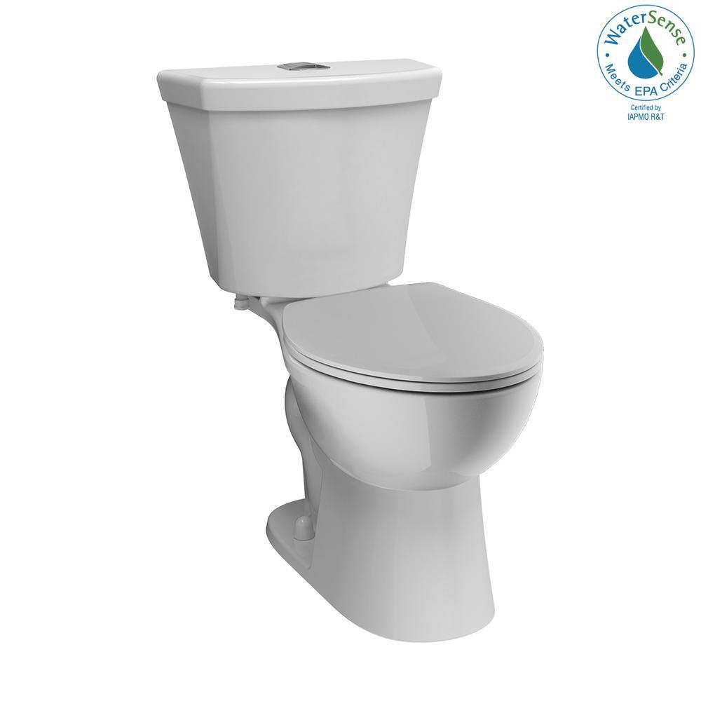 Delta Turner 2 Piece 1 1 Gpf 1 6 Gpf Dual Flush Round Front Toilet