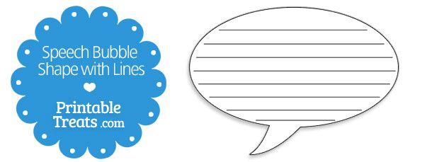Writing activities speech bubbles