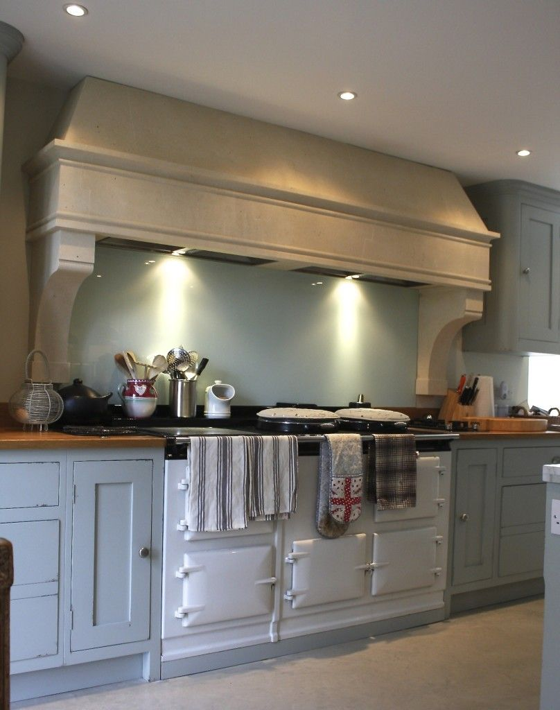 Country kitchen stone canopy aga cooker hood kitchen for Modern kitchen design with aga