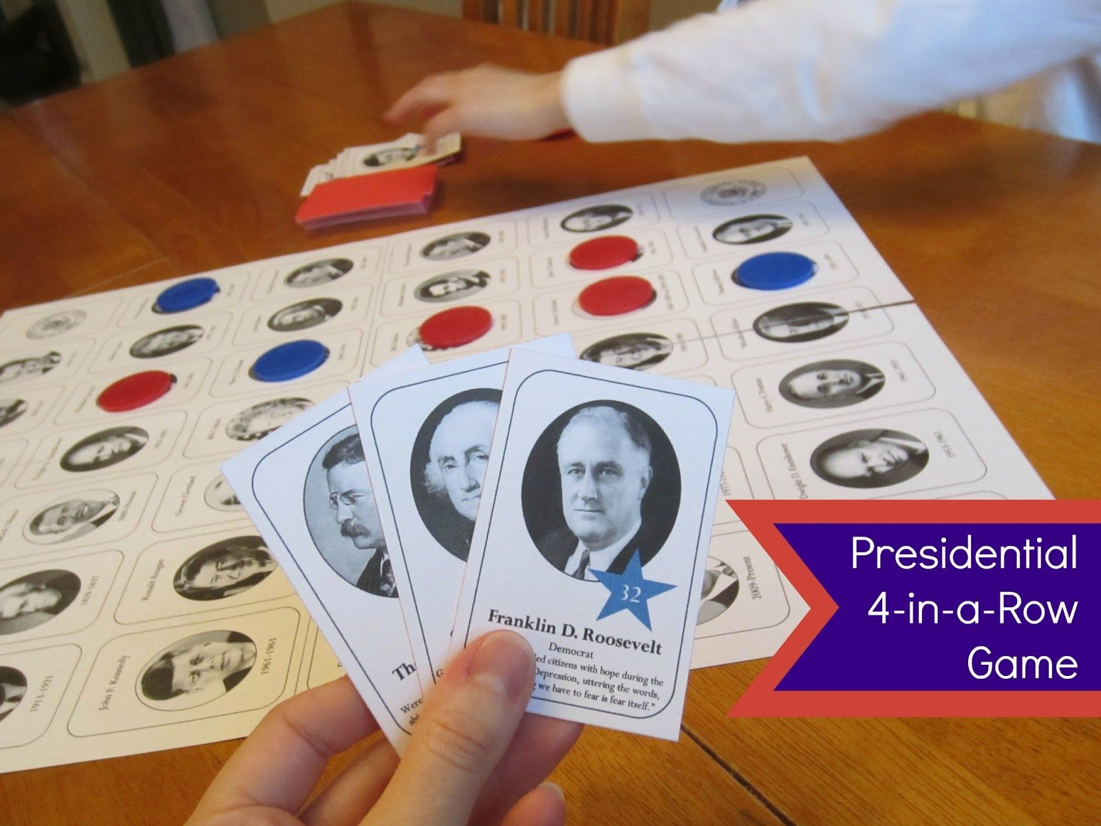 Relentlessly Fun Deceptively Educational Presidential 4 in a Row