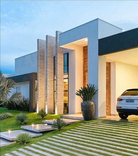 Arquitetura Para Se Viver!!!! O Pe Direito Duplo Deixa A Fachada Imponente.  House ArchitectureArchitecture Interior DesignModern ...