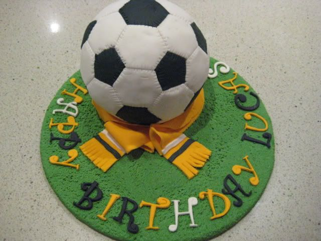 "How To Decorate A Soccer Ball Cake The Claytons Blog"" How To Make A Soccer Ball Cake  Tutorial  My"