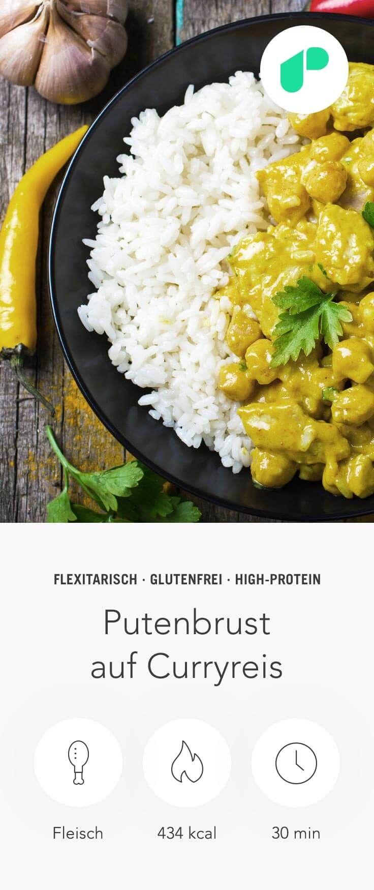Putenbrust auf Curryreis #gezondeten